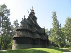 Stave Church, Norwegian Folk Museum, Oslo Norway